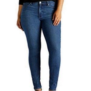 Lee slimming skinny jeans  size 14 Dark wash